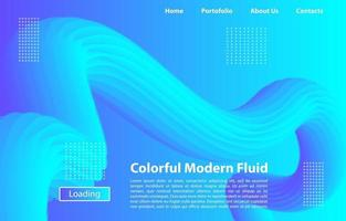 färgglad 3d modern flytande bakgrund. designmall för målsida, banner, affischer, omslag etc.