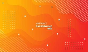 abstrakt orange flytande färgbakgrund. vågig geometrisk bakgrund. dynamisk strukturerad geometrisk elementdesign.