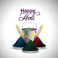 Happy Holi Hindu Indian Festival Grußkarte vektor