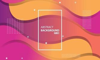 rosa und orange flüssiger Farbhintergrund. Wellenförmiger geometrischer Hintergrund. Dynamisches strukturiertes geometrisches Elementdesign.