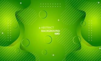 minimaler geometrischer grüner Hintergrund. dynamische Formenkomposition. vektor