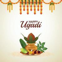 gratulationskort för ugadi eller gudi padwa