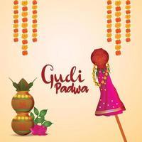 glücklicher Hintergrund der Gudi Padwa-Feier