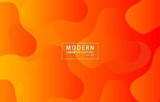 orange moderner flüssiger Farbhintergrund. Wellenförmiger geometrischer Hintergrund. dynamisches strukturiertes geometrisches Elementdesign