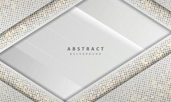 abstrakt vit bakgrundsvektor. elegant konceptdesignvektor. konsistens med silver glitter prickar element dekoration.