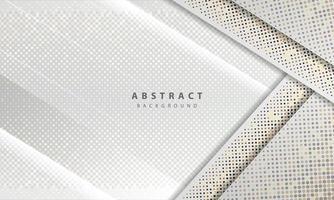 abstrakter weißer Hintergrundvektor. eleganter Konzeptentwurfsvektor. Textur mit Silber glitzert Punkte Element Dekoration.