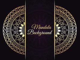 Luxus goldener Mandala Hintergrund vektor