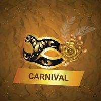 karneval festival koncept med gyllene mask vektor