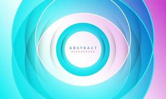 lutning bakgrund. abstrakt cirkel papper klippa slät färgkomposition.