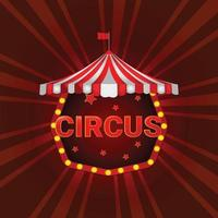 Zirkuszelt auf rotem Hintergrund