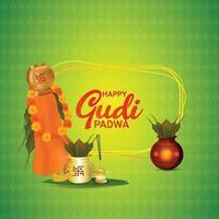 gudi padwa indisk festivalbakgrund vektor