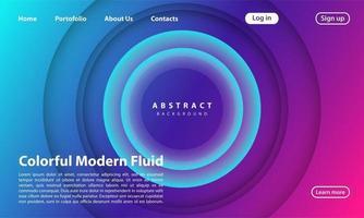 abstrakt 3d cirkel papercut lager gradient bakgrund blå och lila färg. elegant cirkel form design.
