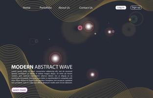 Zielseite. abstrakte Hintergrundwebsite. Vorlage für Websites oder Apps. modernes Design. abstrakter Vektorstilentwurf