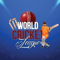 Cricket-Weltmeisterschaftsspiel mit Cricketspielern