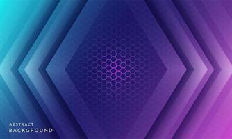 dynamischer trendiger einfacher abstrakter Hintergrund des Farbgradienten mit Sechsecktextureffekten. Vektorillustration