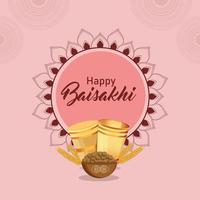 glücklicher vaisakhi sikh Festivalfeierhintergrund vektor