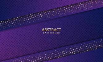abstrakter futuristischer dunkelblauer Hintergrund mit Glitzer. 3D-Hintergrund. realistische Vektorillustration. vektor