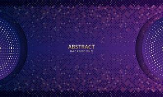 abstrakter futuristischer dunkelblauer Hintergrund mit Glitzer. 3D-Hintergrund. realistische Vektorillustration.