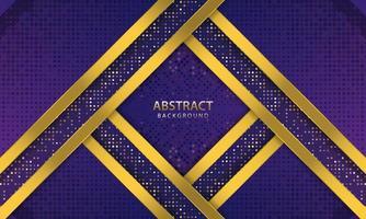 mörkblå abstrakt bakgrund. konsistens med linje guld och glittrar dekoration. realistisk vektorillustration.