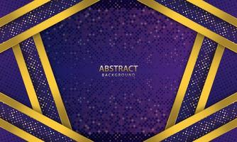 dunkelblauer abstrakter Hintergrund. Textur mit Linie Gold und glitzert Dekoration. realistische Vektorillustration.