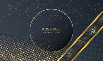 abstrakter dunkler Hintergrund mit Goldlinienentwurf modern. Vektorillustration.