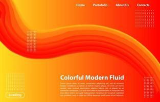 3d abstrakt flytande form med lutning. Landningssidabegrepp i orange färg. abstrakt orange färg geometriska former bakgrund.