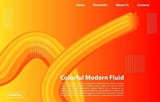 Abstrakte flüssige Form 3d mit gradient.landing Seitenkonzept in der orange Farbe. abstrakte orange Farbe geometrische Formen Hintergrund.