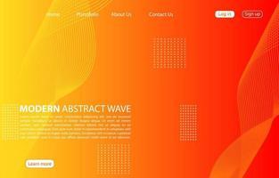 moderne abstrakte Welle background.landing page abstrakte Welle Design. orange Hintergrund.