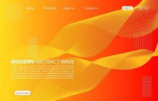 modern abstrakt vågbakgrund. landningssida abstrakt vågdesign. orange bakgrund.