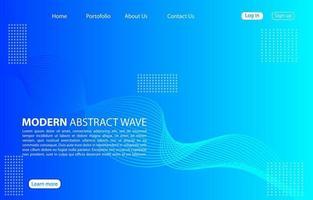 modern abstrakt vågbakgrund. landningssida abstrakt vågdesign. blå mallappar och webbplatser.