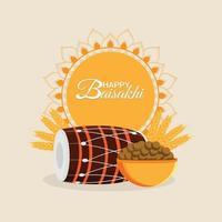 platt design av glad vaisakhi