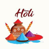glücklicher holi indian hindu Festivalhintergrund vektor