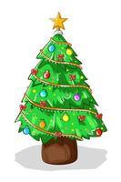en julgranillustration vektor