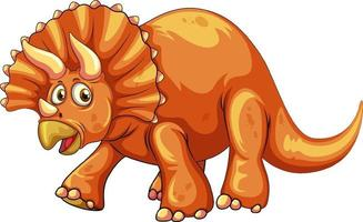 en triceratops dinosaurie karaktär vektor