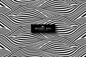 abstrakt svartvitt vågigt mönster design av textur bakgrund. illustration vektor eps10