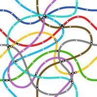 abstrakt färg tunnelbana schema. sömlös vektor mönster