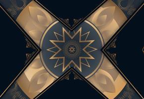 Luxus abstrakter goldener Rahmen in tiefem Blau und Gold vektor
