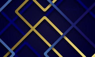 abstrakter 3d Hintergrund mit dunkelblauem Papierschnitt. abstrakte realistische Papierschnittdekorationstextur. vektor