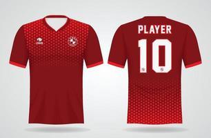 Sport-Trikot-Vorlage für Mannschaftsuniformen und Fußball-T-Shirt-Design vektor