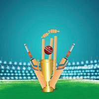 Cricket Meisterschaftsturnier Stadion Hintergrund vektor