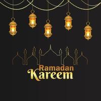 arabisk vektorlykta av ramadan kareem islamisk festival och bakgrund vektor
