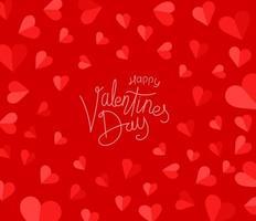 Alla hjärtans dag firande vektor kort
