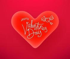 Alla hjärtans dag firande vektor banner med vackert hjärta