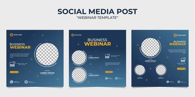 sociala medier berättelsemallar för webinar vektor
