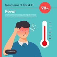 Vektor-Infografik-Symptome von covid-19. vektor