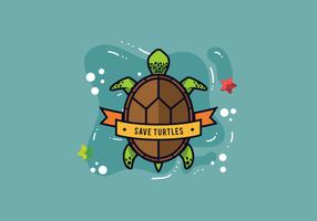 Schildkröten-Vektor vektor
