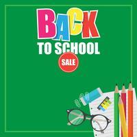 Tillbaka till skolan försäljning illustration