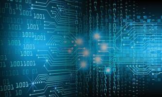 framtida teknikbegrepp för cyberkrets vektor