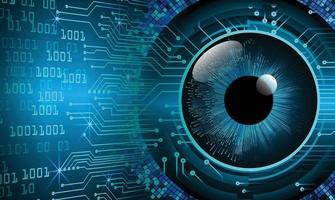 blå ögon cyber krets framtida teknik koncept bakgrund vektor