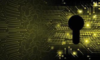 stängt hänglås på digital bakgrund, cybersäkerhet vektor